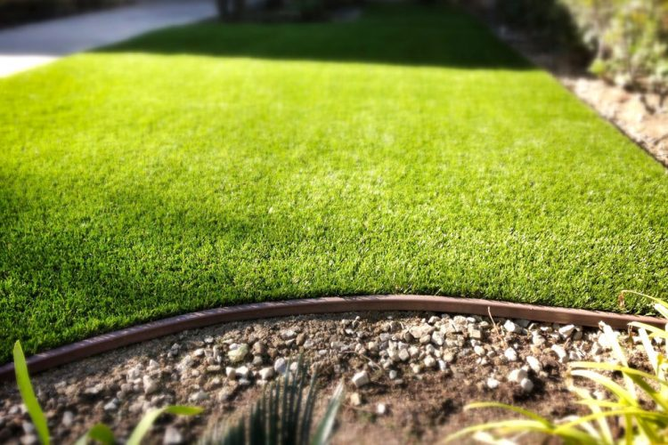 Low Profile Artificial Grass Border is Perfect for Tree Wells