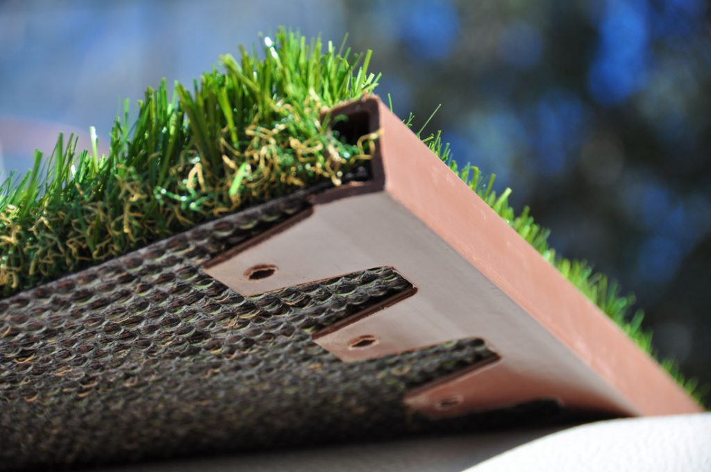 Wonder Edge turf accessories incorporate channel for hiding landscape lighting