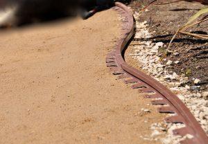 flexible artificial lawn border makes turf install easier