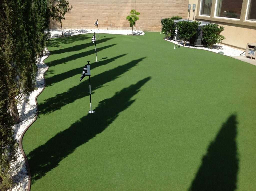 DIY putting green with 2 holes