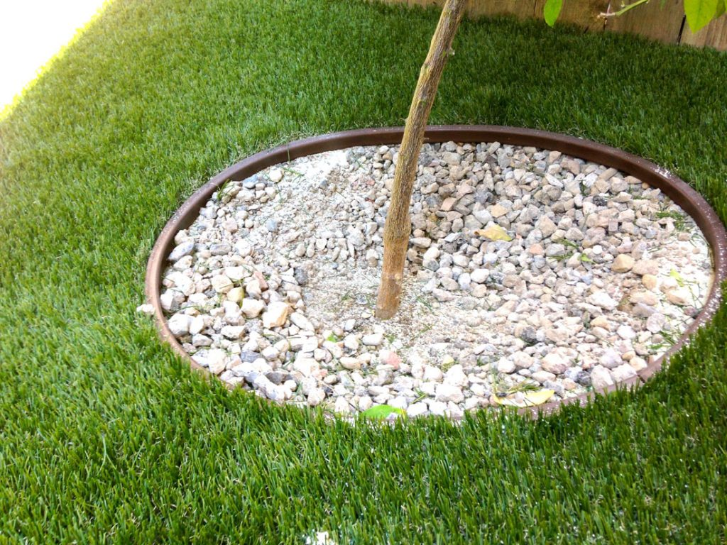 properly installed artificial turf edging